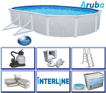 interline Ovalbecken-Set Aruba 4,90 m x 3,60 m x 1,22m Set