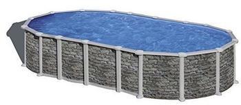 GRE Santorini Dream Pool oval 610 x 375 x 132 cm Stahlwandbecken-Set