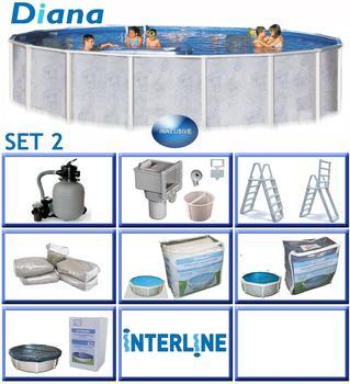 interline Rundbecken-Set Pool Diana Ø 5,50 m x 1,32 m,Set 2