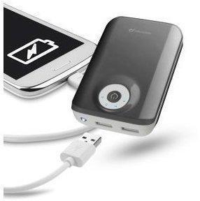 Cellular Line mobiles USB, Akku-Ladegerät - Powerbank, schwarz