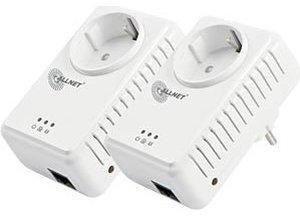 Allnet 500 Mbit HomePlug AV Pass Through Starter Kit (ALL168255DOUBLE)