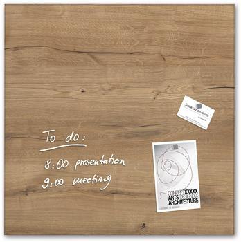 sigel artverum® Glas-Magnetboard (48x48cm) GL254 Natural-Wood