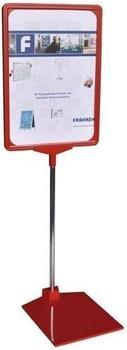 Franken Preisständer - Präsentationsständer A4 (210 x 620 x 10 mm) rot