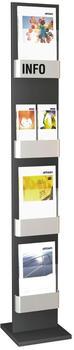 Kerkmann Prospekt-Wandhalter First für 4x DIN A4 (6596)