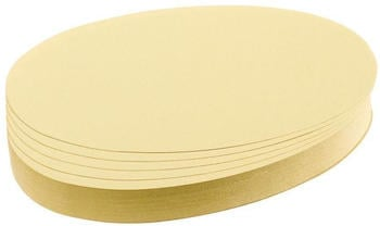 Franken Moderationskarten Oval 190x110mm (500 St.) gelb