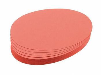 Franken Moderationskarten Oval 190x110mm (500 St.) rot