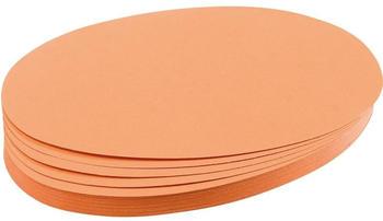 Franken Moderationskarten Oval 190x110mm (500 St.) orange
