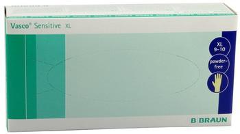 B. Braun Vasco Sensitive Latex-Untersuchungshandschuhe puderfrei Gr. XL (100 Stk.)