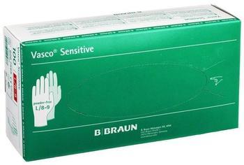 B. Braun Vasco Sensitive Latex-Untersuchungshandschuhe puderfrei Gr. L (100 Stk.)