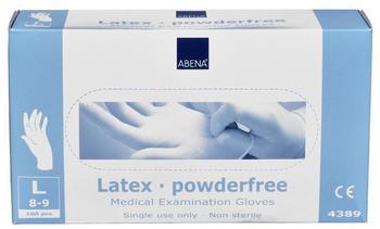 Abena Latex-Handschuhe puderfrei Gr. L (100 Stk.)