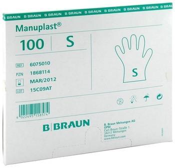 B. Braun Manuplast unsteril puderfrei Gr. S (100 Stk.)