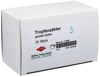 Büttner-Frank Tropfenzähler Gerade (20 Stk.)