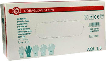 Noba Nobaglove Latexhandschuhe puderfrei Gr. S (100 Stk.)
