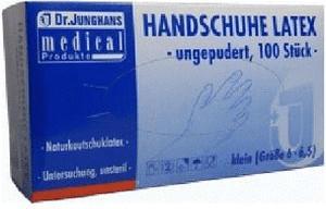 Dr. Junghans Medical Latex-Handschuhe puderfrei Gr. S (100 Stk.)