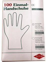 Büttner-Frank Handschuhe Einmal Herren Polyaethylen (100 Stk.)