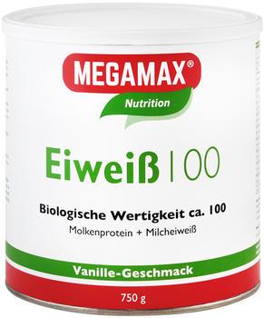 MEGAMAX Eiweiß 100 Vanille Pulver 750 g