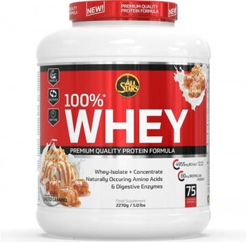 All Stars 100% Whey Protein Salted Caramel Pulver 2270 g