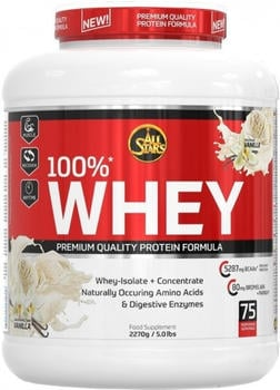 All Stars 100% Whey Protein Vanilla Pulver 2270 g