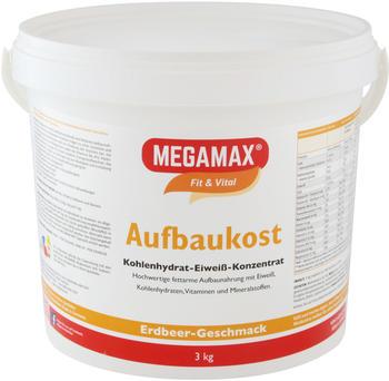 MEGAMAX Aufbaukost Erdbeere Pulver 3 kg