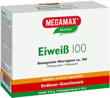 MEGAMAX Eiweiss 100 Erdbeer Megamax