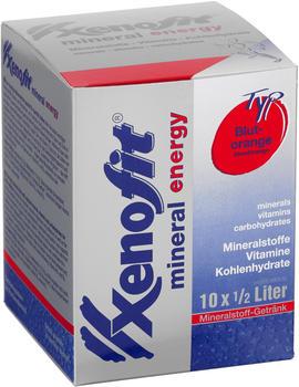 Xenofit Mineral Energy Drink Portionsbeutel 10x36g Blutorange 2019 Nahrungsergänzung