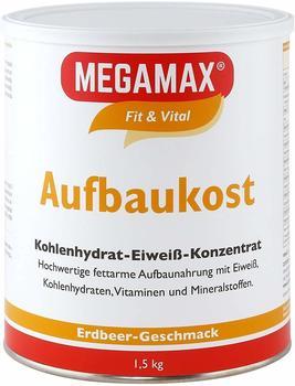 MEGAMAX Aufbaukost Erdbeere Pulver 1,5 kg