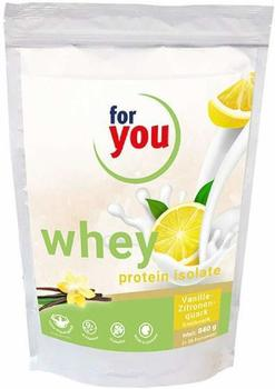 For You eHealth GmbH Whey Protein Isolate Vanille-Zitronenquark Pulver 840 g