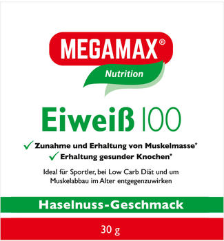 Megamax Eiweiss 100 Haselnuss Pulver (30g)