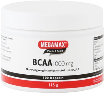 Megamax BV BCAA 1.000 mg Kapseln (100 Stk.)