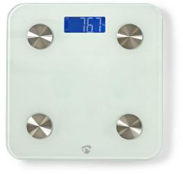 Nedis WLAN-Smart-Personenwaage für BMI, Fett, Wasser, Knochen, Muskeln, Protein