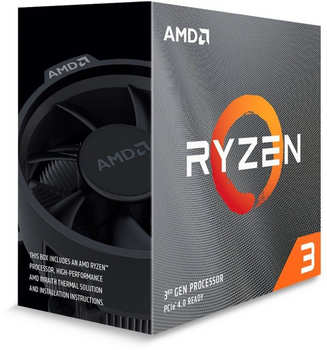 AMD Ryzen 3 3100 Box (Socket AM4, 7nm, 100100000284BOX)