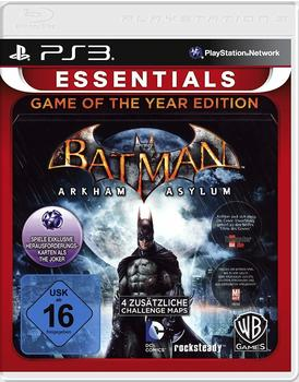 Warner Batman: Arkham Asylum - Game of the Year Edition (Essentials) (PS3)