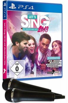 KOCH Media Lets Sing 2018 mit deutschen Hits Inkl. 2 Mikrofone (PS4)