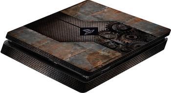 software pyramide PS4 Slim Schutzfolie für Konsole Rusty Metal