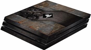 keine Angabe Software Pyramide Skin für PS4 Pro Konsole Rusty Metal Cover PS4 Pro