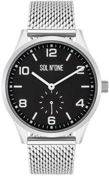SolNoOne Sol No One Quarzuhr SNO009, (1-tlg), aus Edelstahl