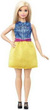 Mattel Barbie Fashionista im Kleid in Gelb und Denim #22