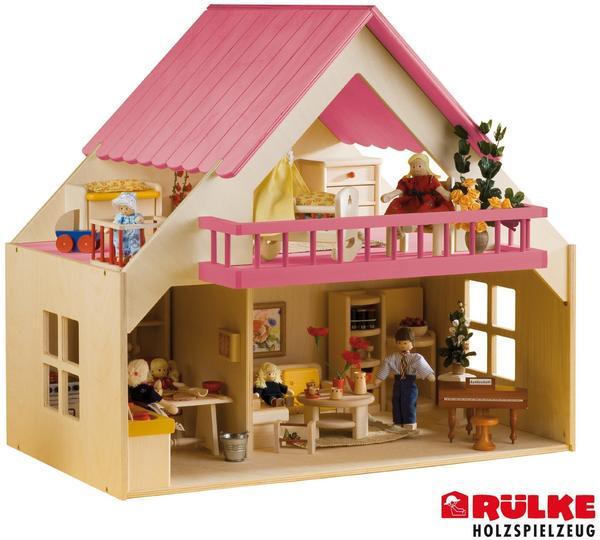 Rülke Puppenhaus mit Balkon - Grün