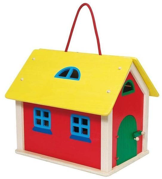 Goki Puppenhaus-Koffer Farmhaus