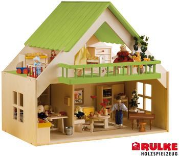 Rülke Puppenhaus mit Balkon - Pink