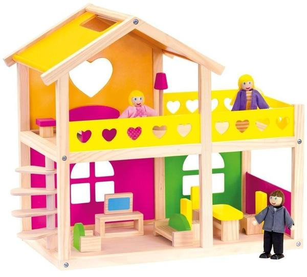 Bino möbliertes Puppenhaus (83553)