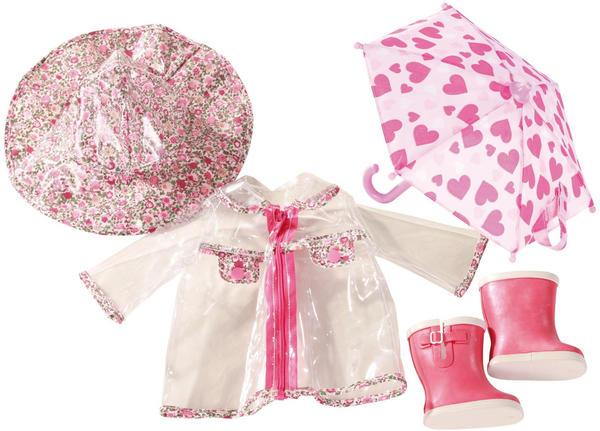 Götz Regenmantel Hut Schuhe und Regenschirm pour poupées 45-50 cm (3402190)