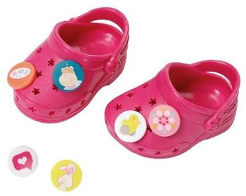 Zapf Creation BABY born Puppenkleidung Schuhe Clogs mit Pins Bordeaux,