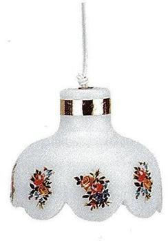 Kahlert Hängelampe Kunststoffschirm Blumen 10541 Ø50mm Puppenstuben