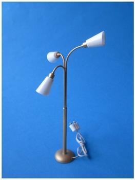 Kahlert Licht Stehlampe mit Messingfuß u Porzellanschirm