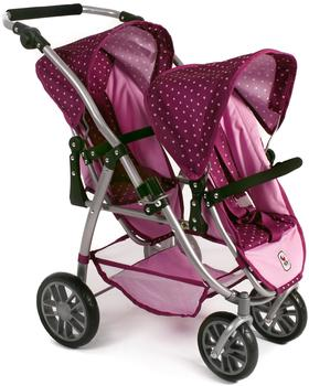Bayer-Chic Tandem Buggy Vario - Dots Brombeere