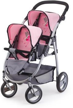 Bayer Design Zwillingspuppenwagen grau rosa (2650800)