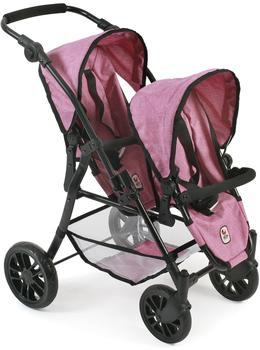 Bayer-Chic Tandem-Buggy Twinny - Pink