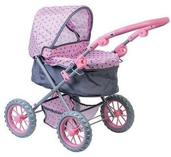Lissi Dolls Puppenwagen rosa/grau