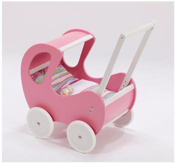 All-4-Baby Spielwaren Puppenwagen mit Dach Dornröschen pink